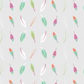Grey falling feathers pattern