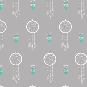 Grey Dream Catcher Pattern