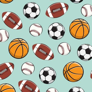 Play Ball - Sports - Basketball, football, baseball, soccer - aqua-  LAD19
