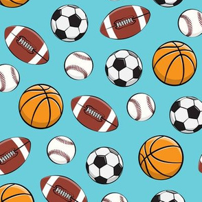 Play Ball - Sports - Basketball, football, baseball, soccer - blue - LAD19