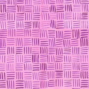 Pink Basketweave