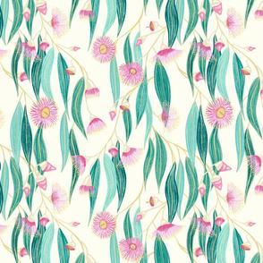 eucalyptus - cream background