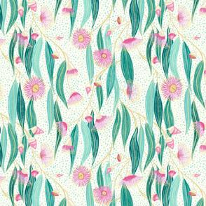 eucalyptus - cream textured background