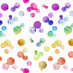 Rainbow watercolour bubbles
