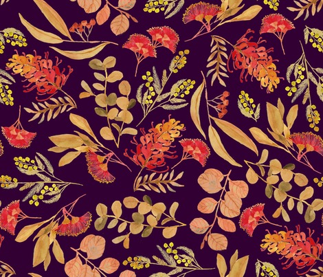 Rraustralian-botanical-gold-on-purple-04_contest252323preview