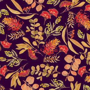 Australian Botanical {Gold on Purple}