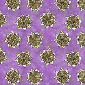 Ice cream mandala watery purple
