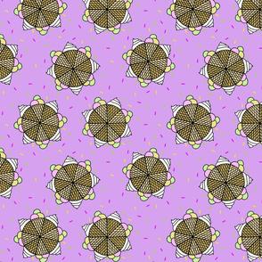 Ice cream mandala purple