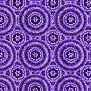 Crochet Mandala Purple