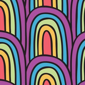 Kids fun colored rainbow pattern
