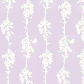Hosta Stripe Cream on Lilac