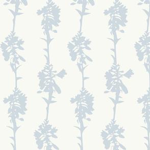 Hosta Stripe Ice Blue on Cream