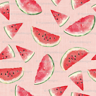 Juicy Watermelon // Blush Linen