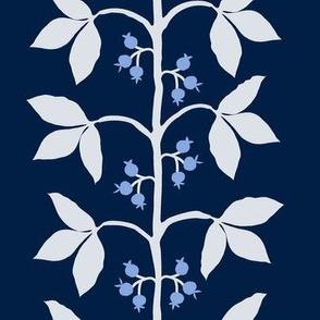 Berry Vine Stripe Navy_ Blue andCream1
