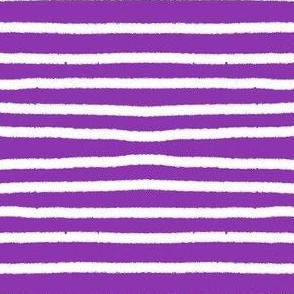 Sketchy Stripes // White on Bright Med. Purple