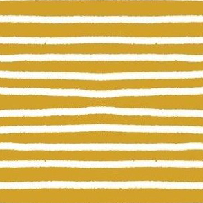 Sketchy Stripes // White on Mustard