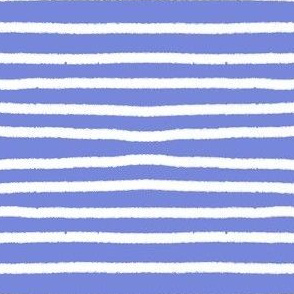 Sketchy Stripes // White on Periwinkle