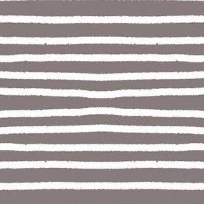 Sketchy Stripes // White on Warm Grey