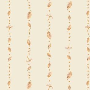 retro honeysuckle and leaves cream