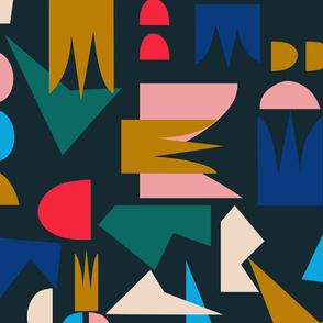Shape of Things- navy (jumbo)