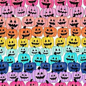 rainbow pumpkin stripes