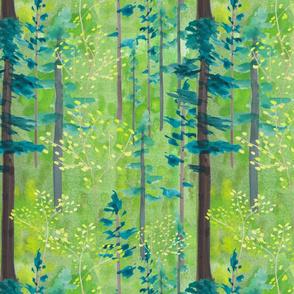 Spring Woodland Watercolor