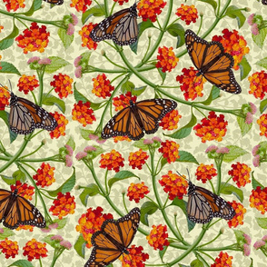 Monarchs and Lantana-Large