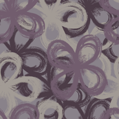 painted florals 2, purple hues
