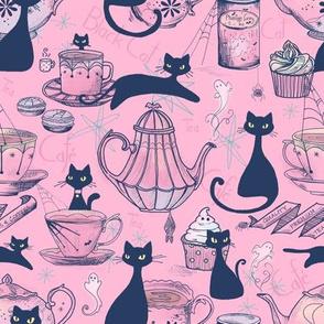 Black Cat Cafe // retro rose // smaller scale