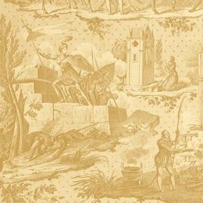 Jeanne d'Arc Toile ~ Faux Gilt on Trianon Cream