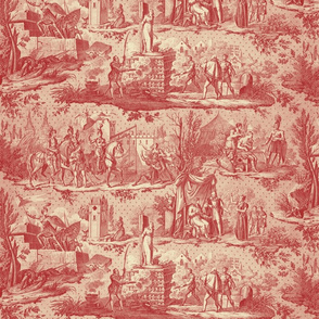 Jeanne d'Arc Toile ~ Original ~ Red and Cream