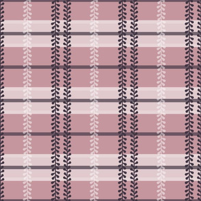 Periwinkle Plaid in Dusty Pink