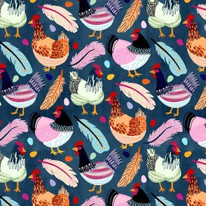 Trendy Chickens (Small Version)