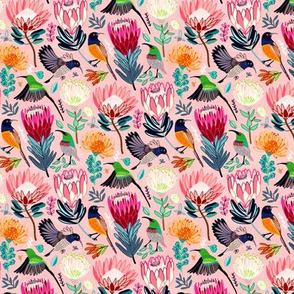 Sunbirds & Proteas (Small Version)