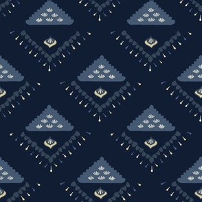 Indigo blue geometric glow triangle pattern