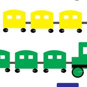 colourful train race