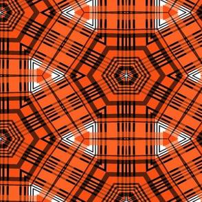 The Orange and the Black: Starburst Plaid Number 2