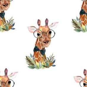"8"" Boy Giraffe White"