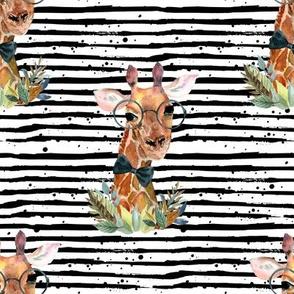 "8"" Boy Giraffe Black Stripes"