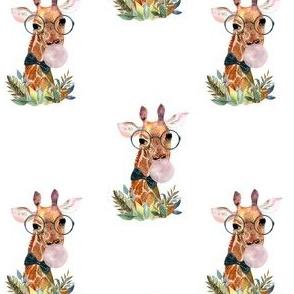 """4"""" Boy Giraffe with Bubblegum"""
