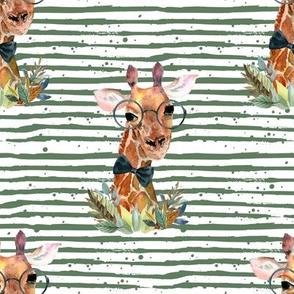 "8"" Boy Giraffe Green Stripes"