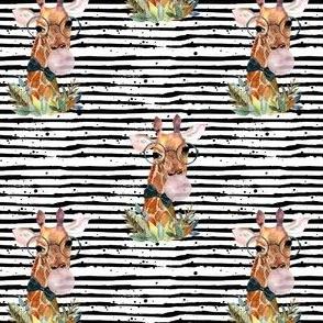 """4"""" Boy Giraffe with Bubblegum and Black Stripes"""