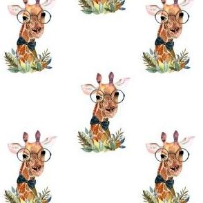 "4"" Boy Giraffe White"