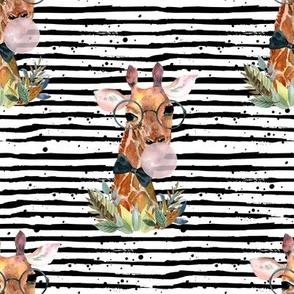 """8"""" Boy Giraffe with Bubblegum and Black Stripes"""