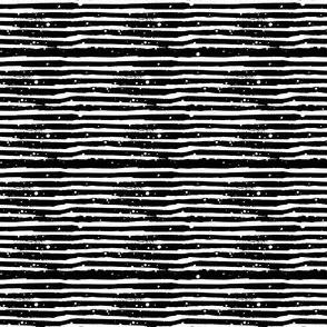 """4"""" White Stripes Black Back"""