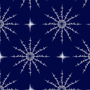 Shibori Snowflakes