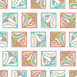 Pretty geometric memphis square pattern