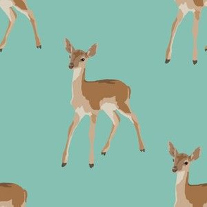 Paint by Number Baby Deer blue