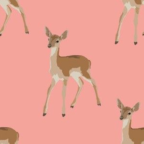 Paint by Number Baby Deer Coral