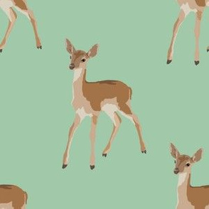 Paint by Number Baby Deer green